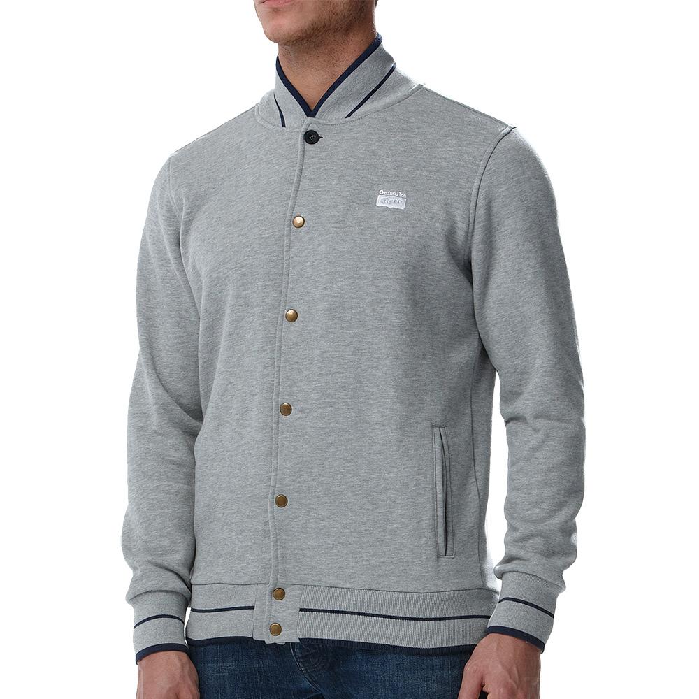 Mens Collegiate Varsity Jacket (Grey Heather)