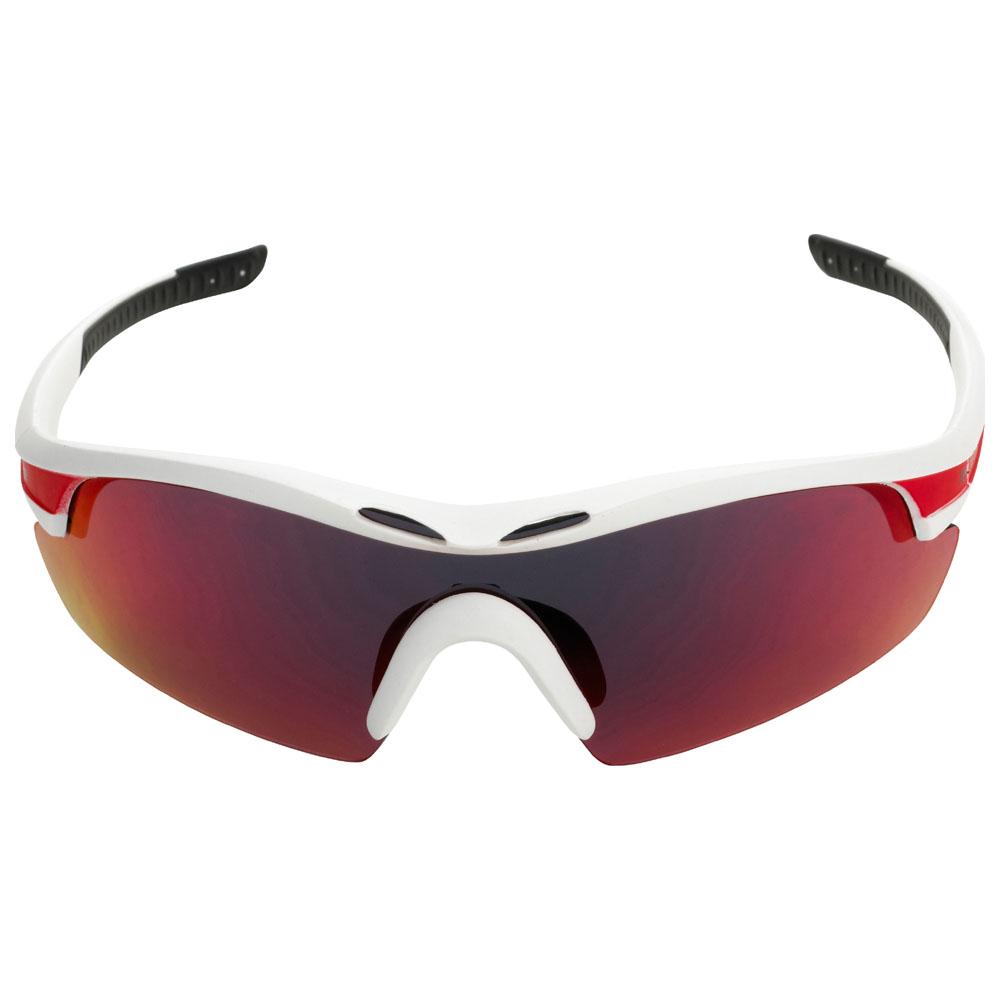 Novena S Sunglasses (White Matte/Red)