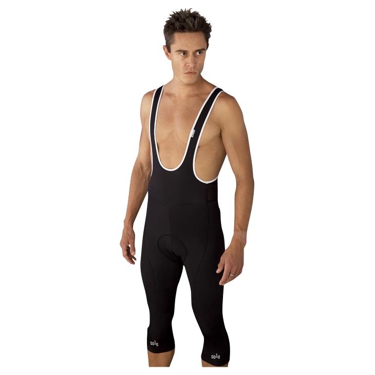 Mens RT Thermal 3/4 Bib Shorts (Black)