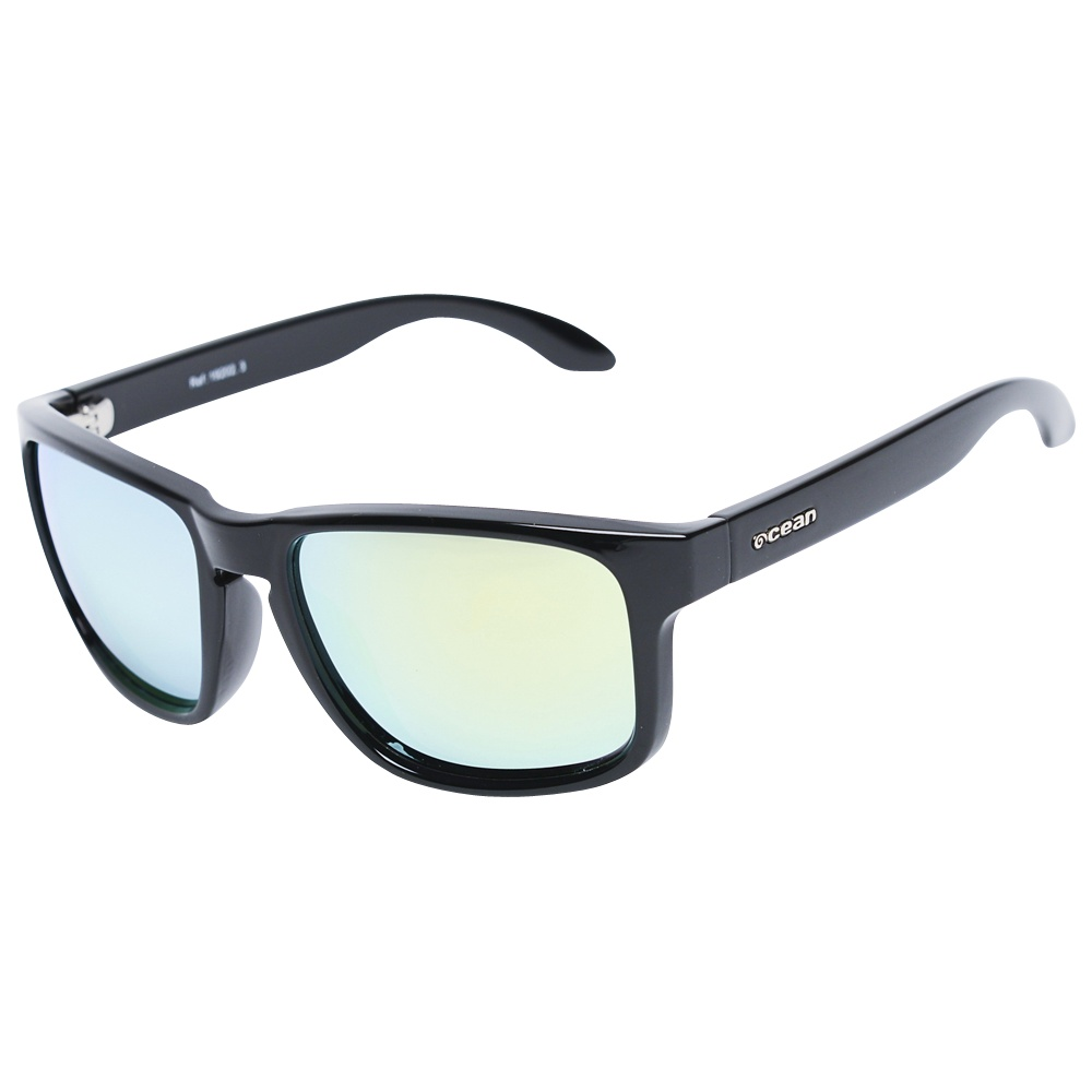 Blue Moon Sunglasses (Matte Black - Yellow Revo Lens)