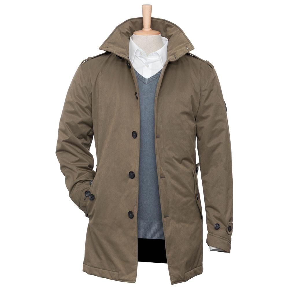 Mens Adge 2-Layer Winter Short Coat (Khaki)