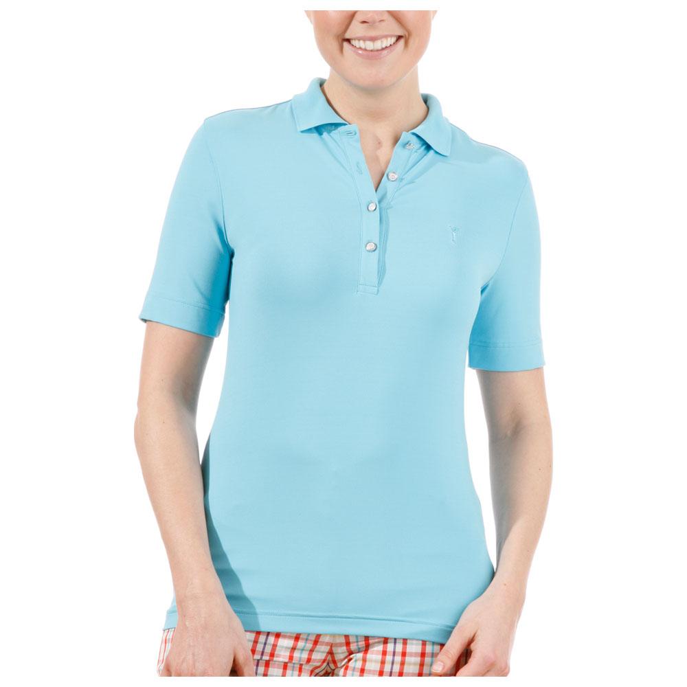 Womens Dry Comfort Jersey Polo (Aqua)