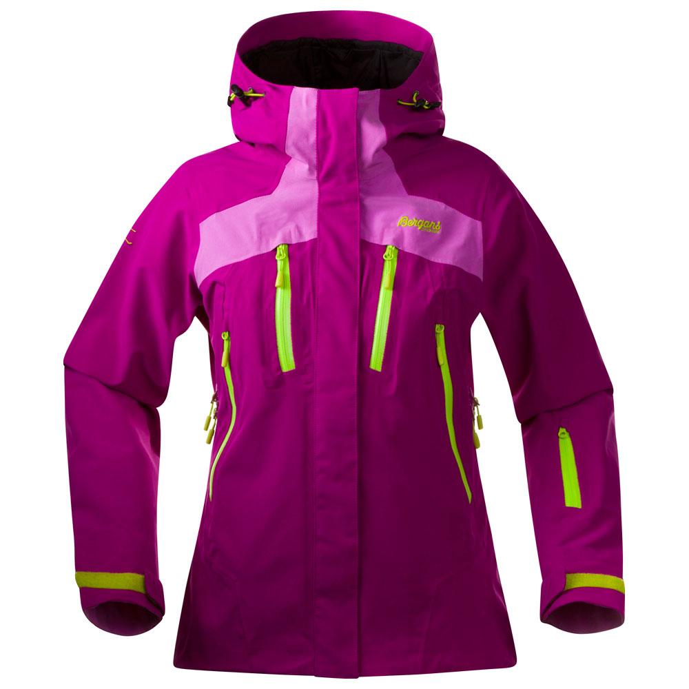 Womens Oppdal Jacket (Dark Tulip/Light Heather/Neon)