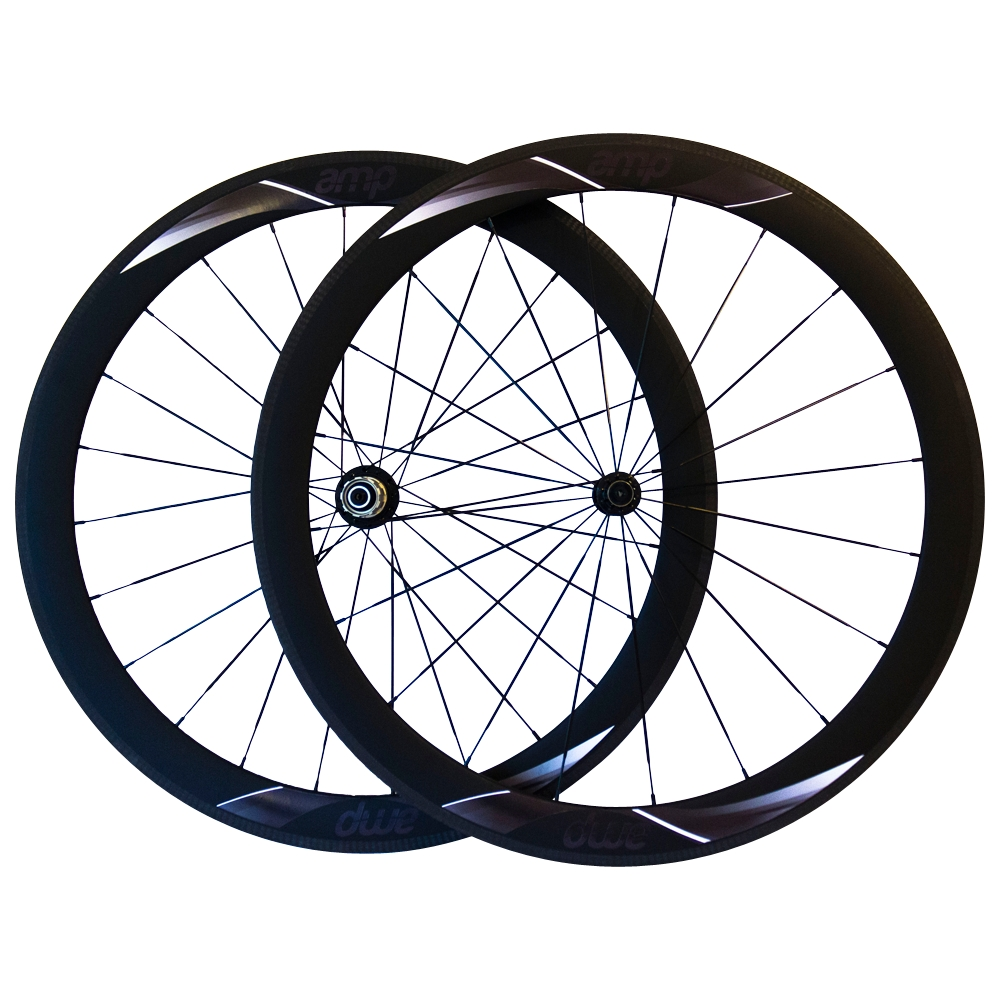 50mm Carbon Clincher Wheelset (Stealth Black)