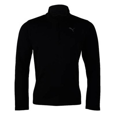 Mens PE Running Brush Long Sleeve Tee (Black/Black)