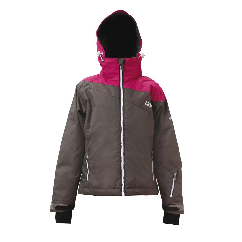 Girls Vallasen Light Padded Ski Jacket (Dark Grey)