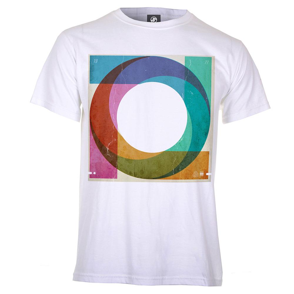 Mens Swirly Sleeve T-Shirt (White)