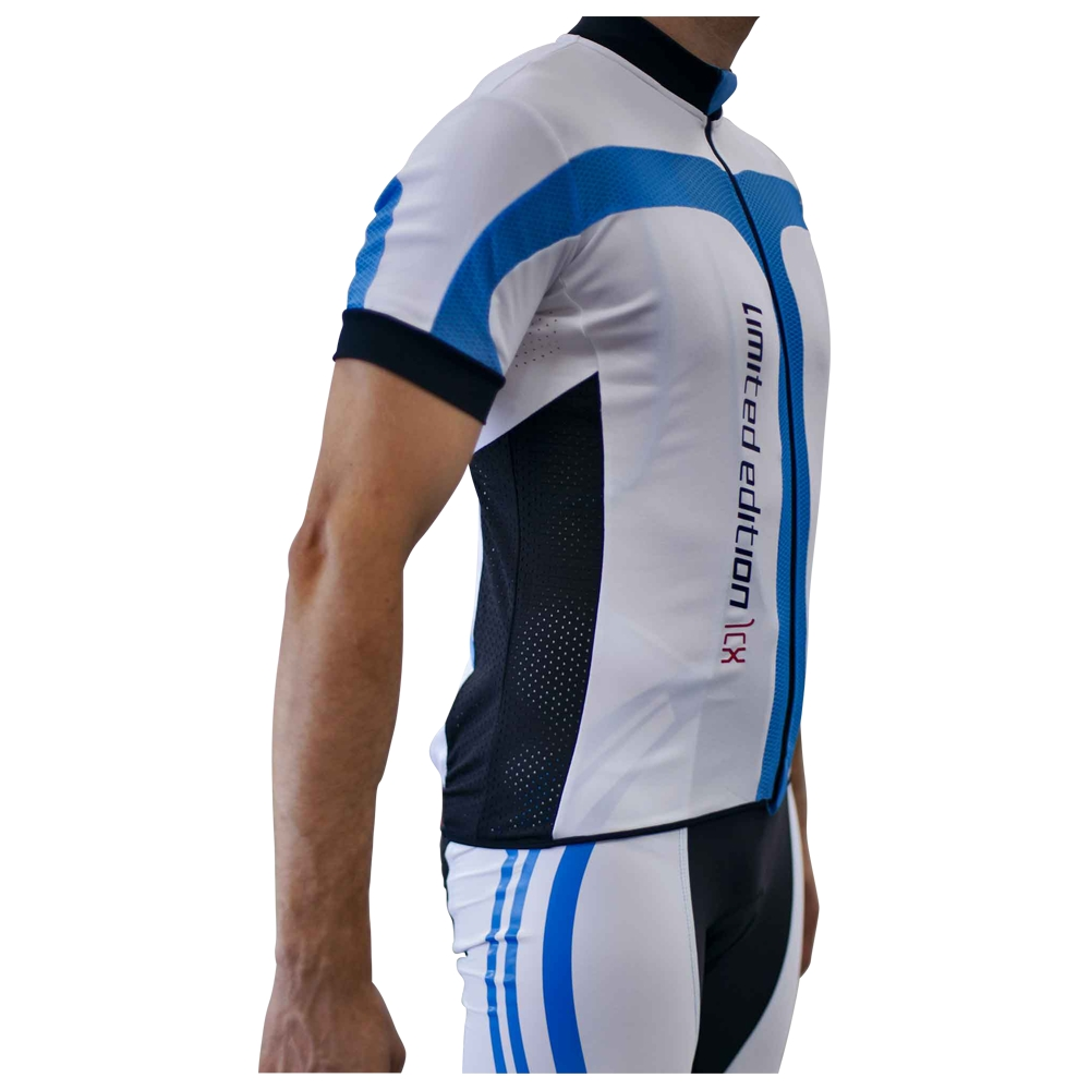 Mens Limited Edition Short Sleeve Jersey (White/Black/Blue)