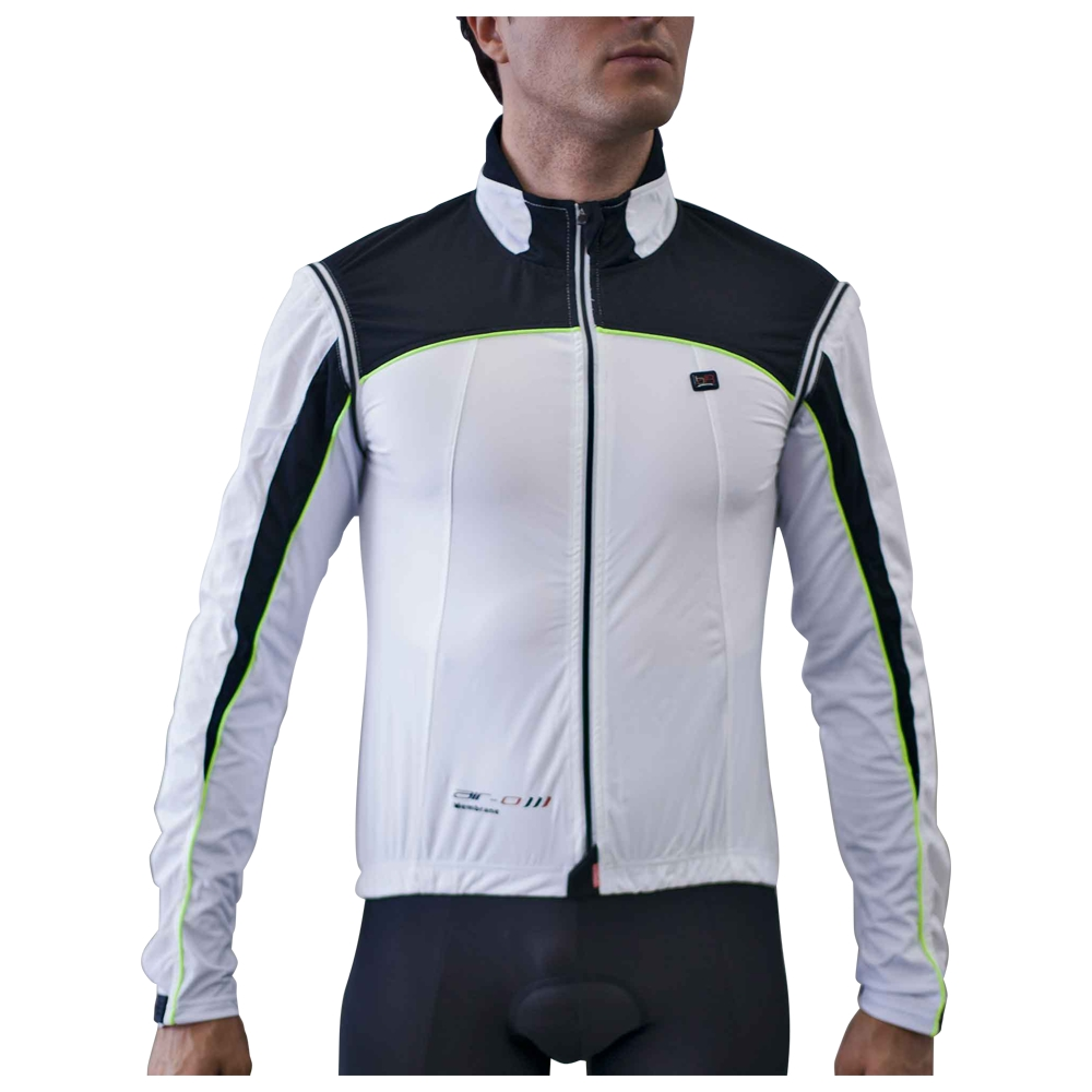 Mens Cardiff Convertible Jacket (White/Black/Lime)