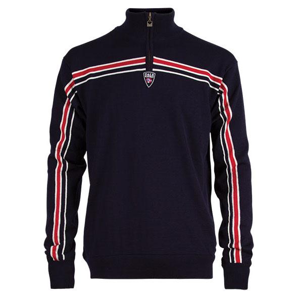 Mens Kvitfjell Weatherproof Sweater (Navy/Raspberry/Off White)