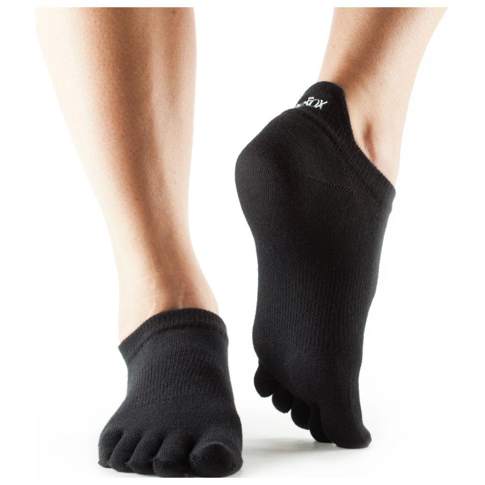 Ultralite No Show Toe Socks (3 Pack - Black)