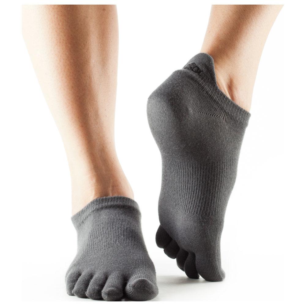 Ultralite No Show Toe Socks (3 Pack - Grey)