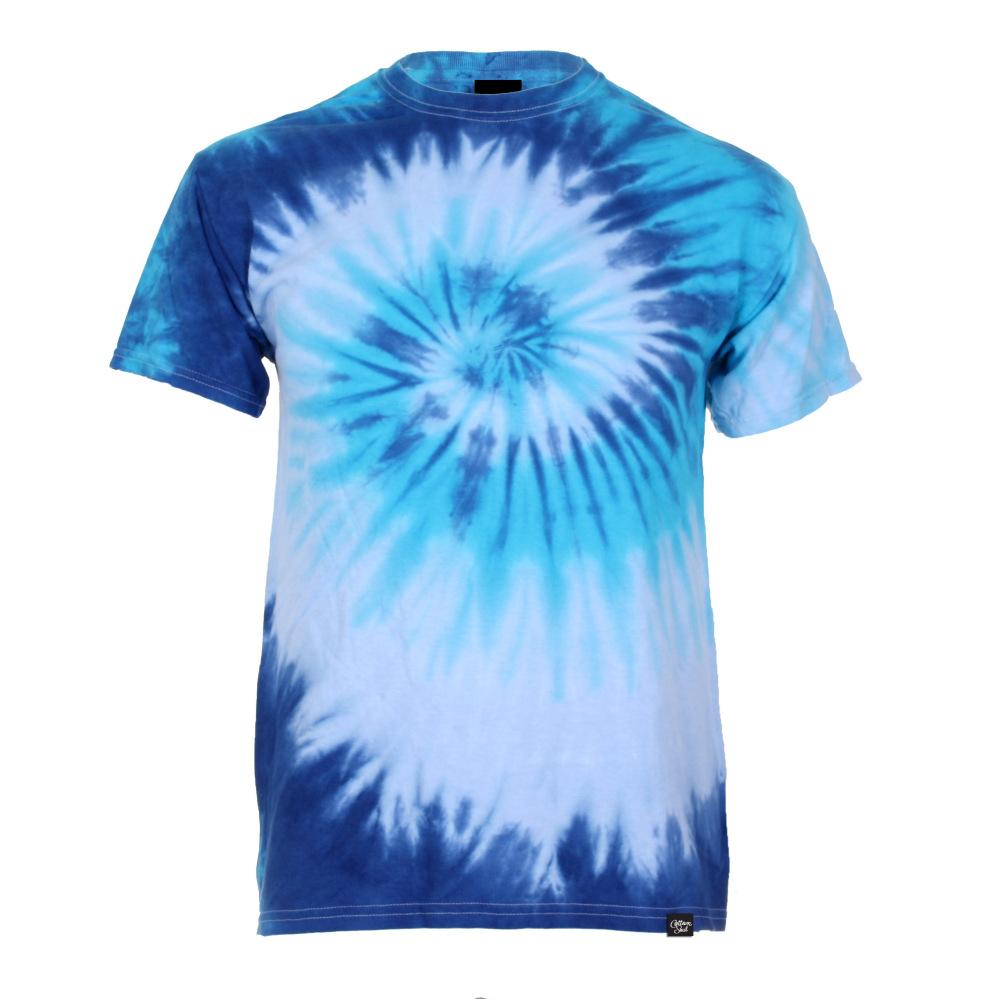 Mens Swirl Tie Dye T-Shirt (Blue)