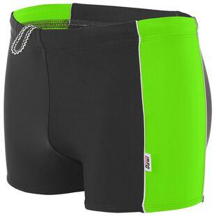 f3048ad66442 Boys Victor Swim Shorts (Black/Green)