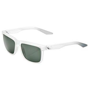 866064f45460 Blake Glasses (Matte Translucent Crystal Clear - Grey Green Lens)