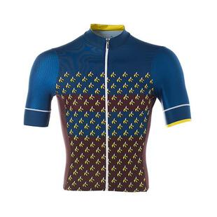 67696674ee8b06 Mens Orange You Glad Helix 2.0 Jersey (Brown/Blue/Yellow)