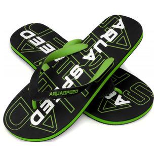b5660aea208fc3 Mens Rodos Flip Flops (Black Green)