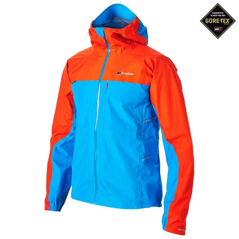 Berghaus Mens Vapour Storm Shell Jacket Blue Orange