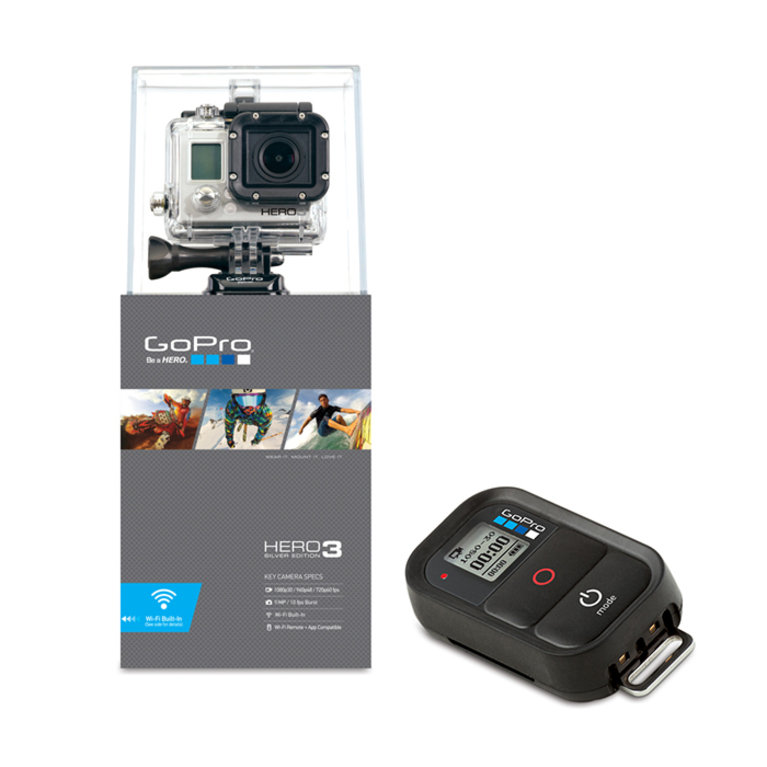 gopro  silver edition with wifi remote full uk waranty