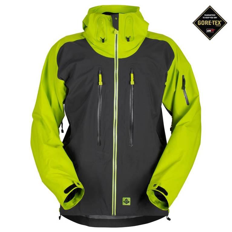 Mens Supernaut Jacket (Charcoal Gray/Viper Green)