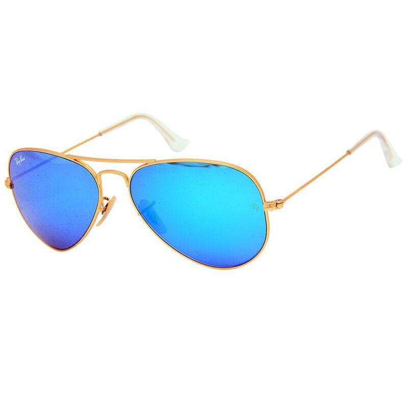 2e4a536ba32 Ray-Ban RB3025 Aviator Sunglasses (Gold Blue Mirror Lens ...