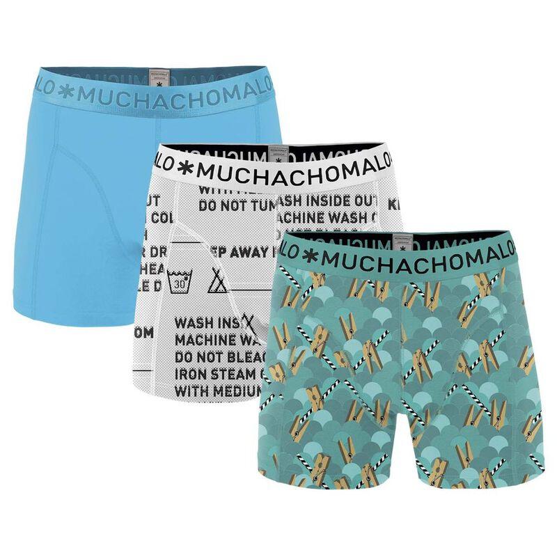 72ee0f54015 Muchachomalo Boys 3-Pack Short Boxers (Light Blue/Grey) | Sportpursuit