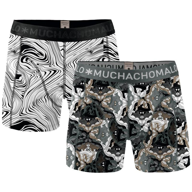 Muchachomalo Mens 2-Pack Short Boxers (Print Opartx)  5c16436456679