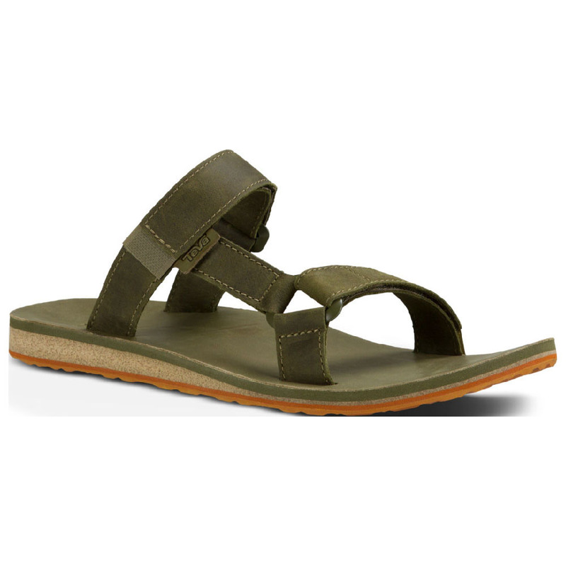 20f8d5966 Teva Mens Universal Slide Leather Sandals (Dark Olive)