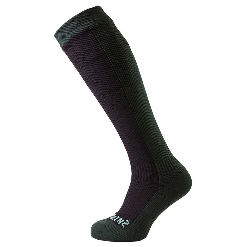 5892f71d094 SealSkinz Hiking Mid Knee Socks (Black Racing Green)