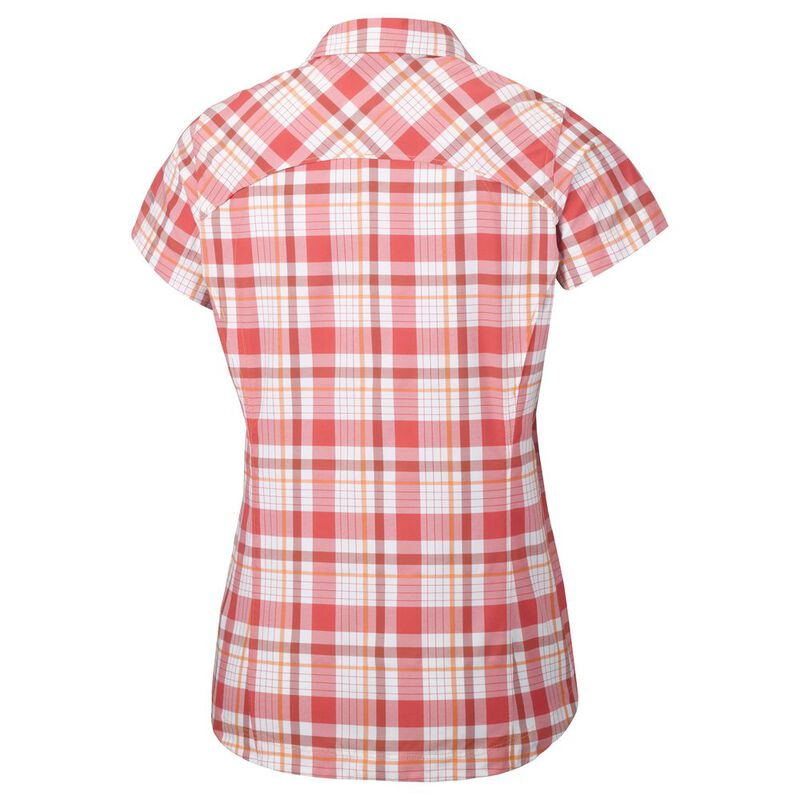 Columbia Silver Ridge Multi Plaid Short Sleeve Shirt Women Damen Bekleidung
