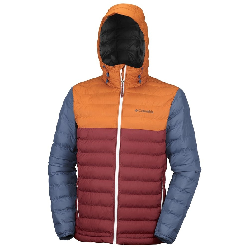 6f334e247 Columbia Mens Powder Lite Hooded Jacket (Red Element/Bright Copper)