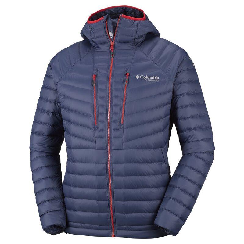 Columbia Mens Altitude Tracker™ Hooded Down Jacket (Dark