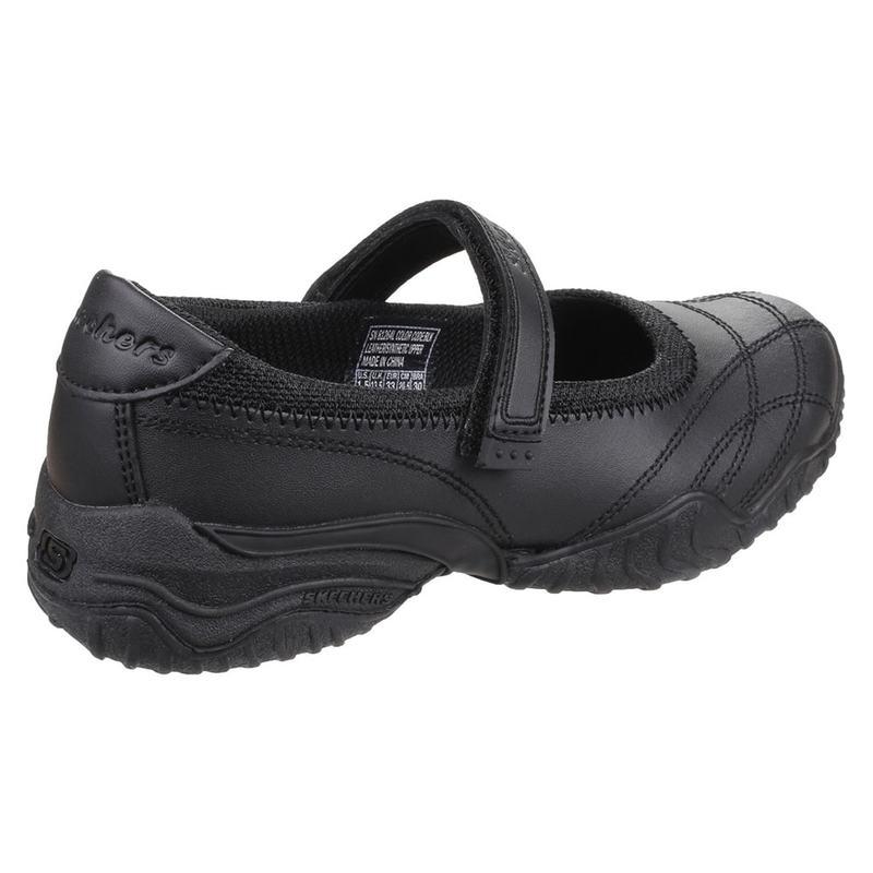 Skechers Girls Velocity Pouty Shoes (Black)  a7e324d4a18