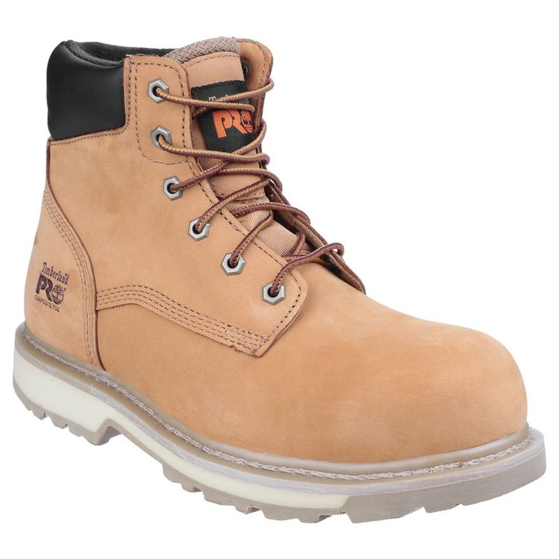 Timberland Mens Pro Traditional Lace Up Safety Boots (Wheat