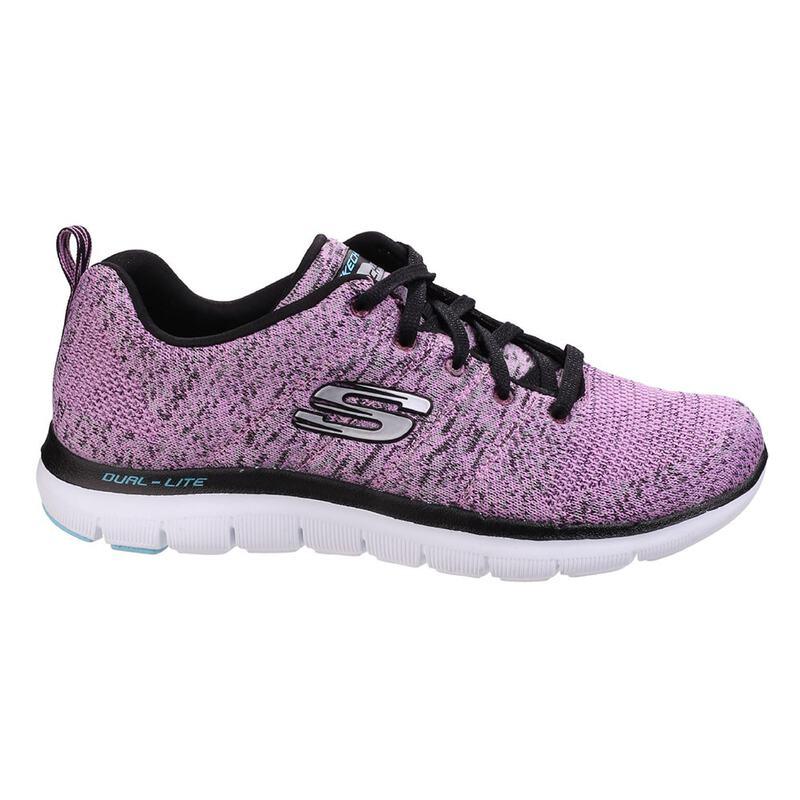 b5d9e53e614f Skechers Womens Flex Appeal 2.0 High Energy Trainers (Lavender)