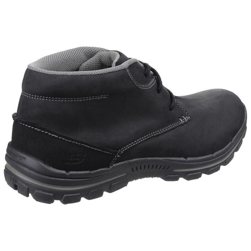 afaf1a7caa3fa Skechers Mens Braver Horatio Lace up Boots (Black) | Sportpursuit.com