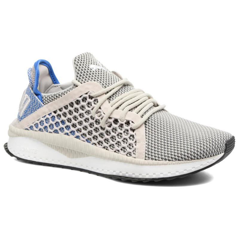 40fe59c8e3d2 Puma Mens Tsugi Netfit Gray Shoes (White Blue)