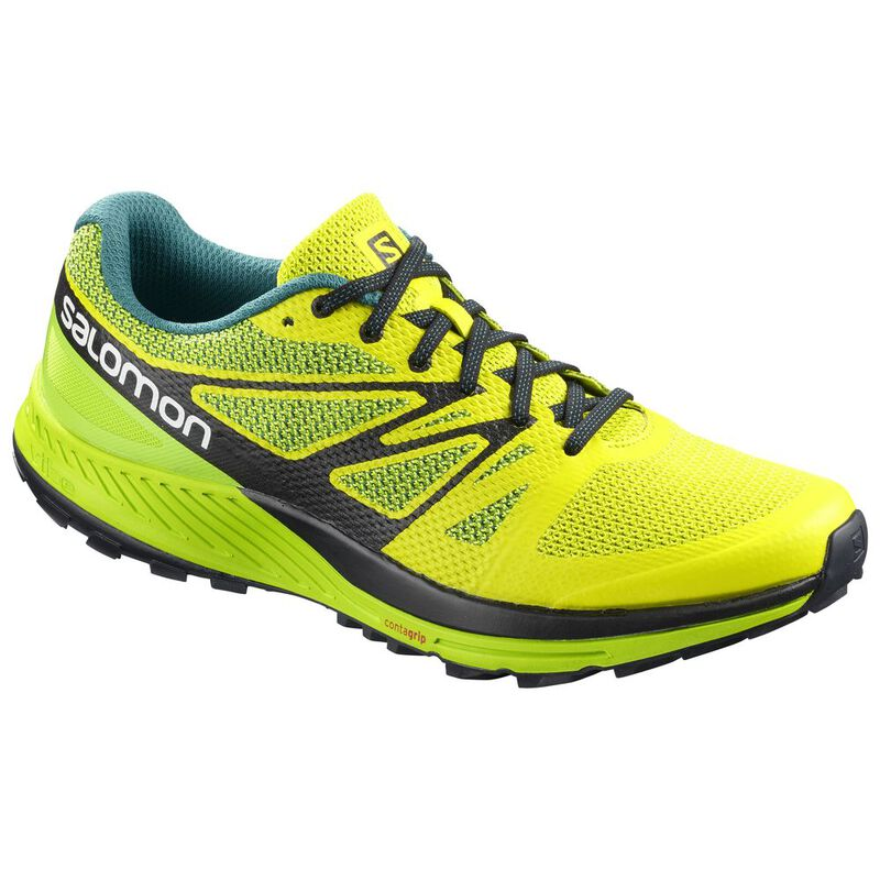e2124934c814 Salomon Mens Sense Escape Shoes (Sulphur Yellow Lime Green)