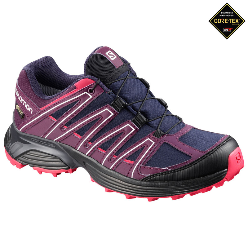 dac7495b4464 Salomon Womens XT Asama GTX Running Shoes (Blue Dark Purple)
