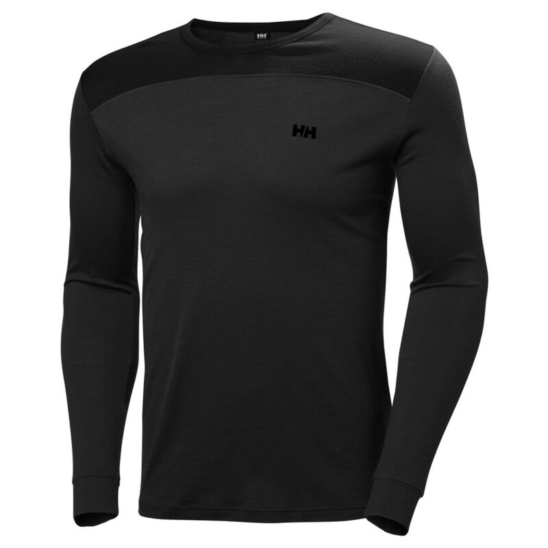 HELLY HANSEN Mens HH Merino Mid Long Sleeve Baselayer (Black)