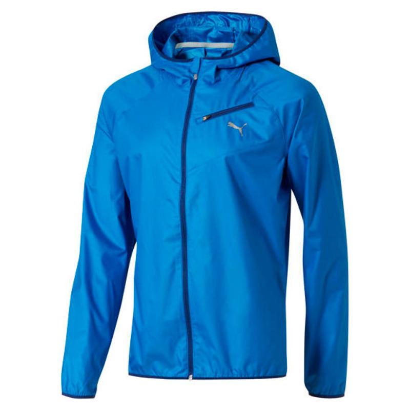 5d3fe3d5dc6c Puma Mens Core-Run Hooded Jacket (Blue)