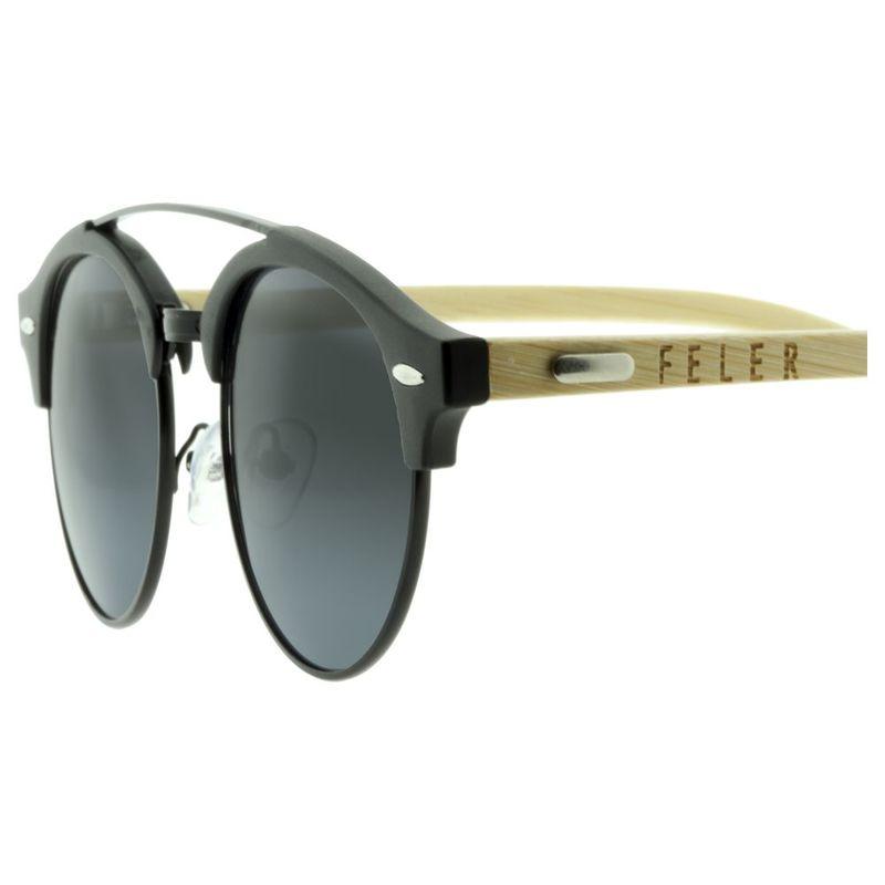 93a2a2df7c Feler Clubround Polarized Sunglasses (Black)