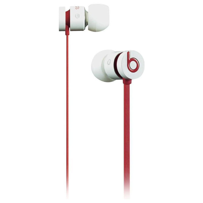 Beats By Dre Ur Beats Wired Monochromatic Ear Buds White Red Spo
