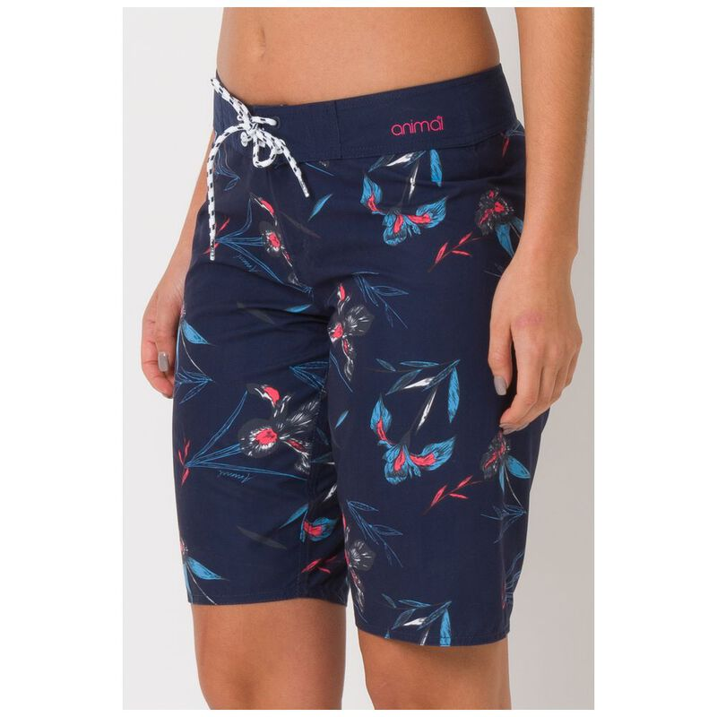 Animal Fian Mid Length Boardshorts in Mid Navy Blue