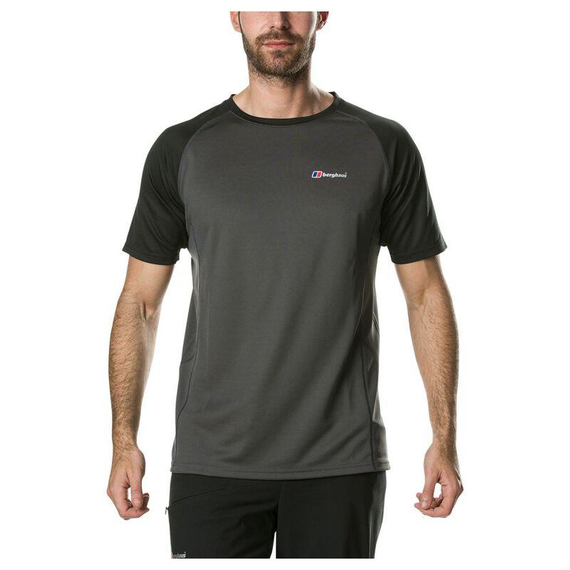 Berghaus Mens Tech Tee Short Sleeve 2.0 Baselayer Carbon