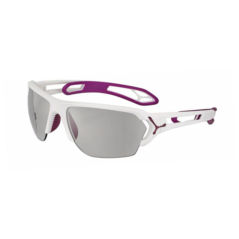ef2ee0c8a Cebe S'Track L Sunglasses (Matte White/Cranberry - Variochrome Grey)