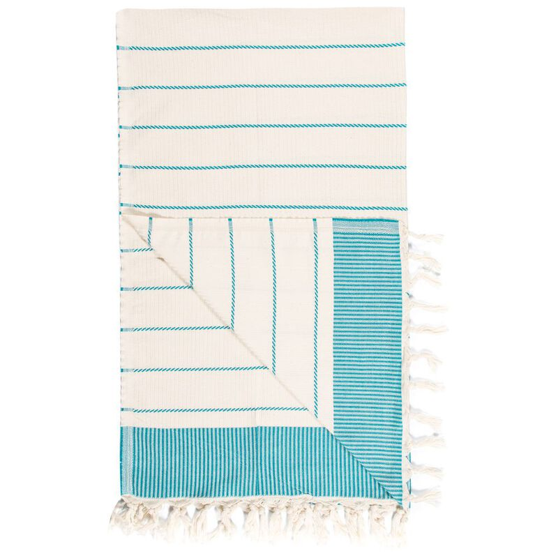 Ilvea Striped Hammam Towel (Turquise) | Sportpursuit com