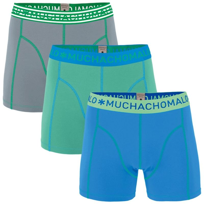 12f1b4be819 Muchachomalo Boys Solid 3-Pack Boxers (Blue/Green/Grey ...