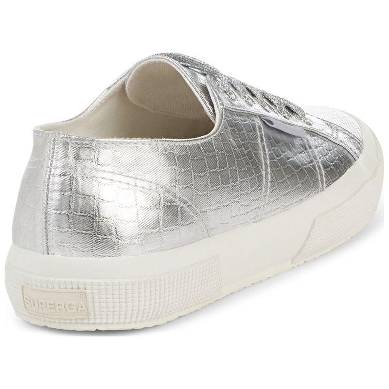 468d61f4d9d03 Superga Womens 2750 Cotmet Embossed Shoes (Grey) | Sportpursuit.com