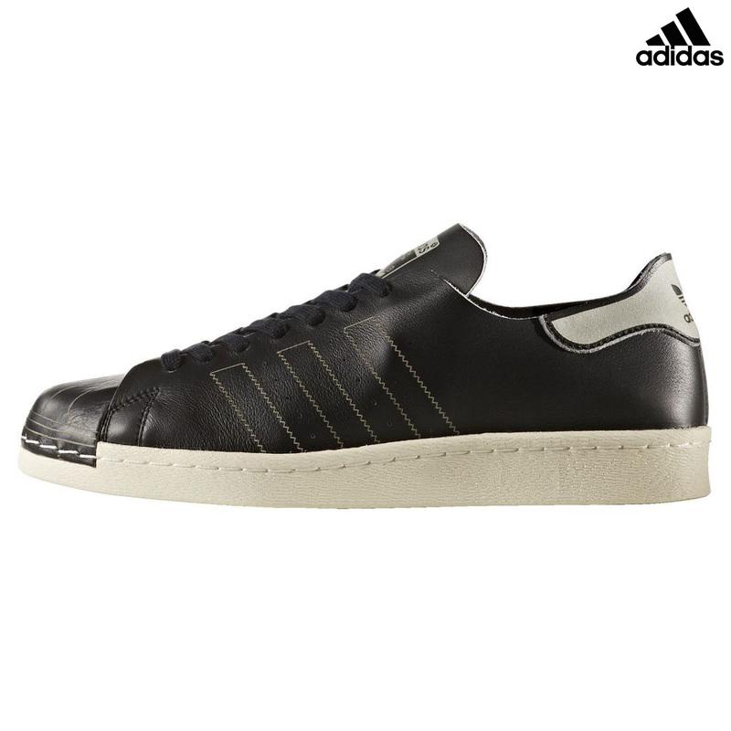 online store 938a9 556a5 Mens Superstar 80s Decon Shoes (Core Black Core Black Vintage White)